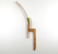 Untitled, 2012, wood and fabric, 5*140*26 cm