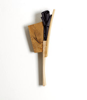Black flower, 2012, wood and gum, 6*45*16